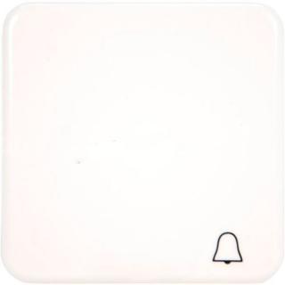 """Клавиша Hager-Polo REGINA для 1-клавишных выключателей со знаком """"Звонок"""" белая"""