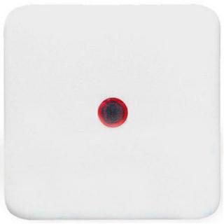 Клавиша Hager-Polo REGINA с красной линзой для 1-клавишных выключателей белая