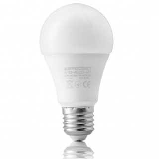 Лампа светодиодная Евросвет A-12-3000-27 12W 170-240V