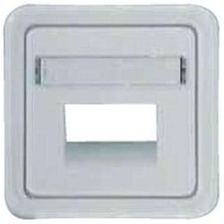 Лицевая панель Hager-Polo REGINA для розеток телефонных / компьютерных двойных белая