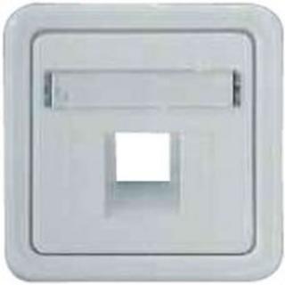 Лицевая панель Hager-Polo REGINA для розеток телефонных / компьютерных однократных белая