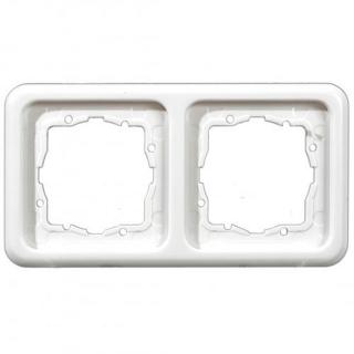 Рамка Hager-Polo REGINA 2-кратная белая