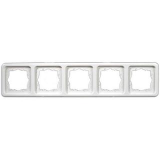 Рамка Hager-Polo REGINA 5-кратная белая