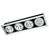 Светильник точечный DELUX HL AR111 400R G53 12V серый без ламп