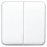 Клавиша Hager-Polo REGINA для 2-клавишных выключателей белая