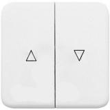 Клавиша Hager-Polo REGINA для 2-клавишных выключателей для жалюзей белая