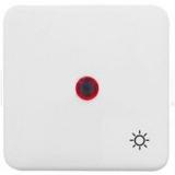 """Клавиша Hager-Polo REGINA с красной линзой для 1-клавишных выключателей со знаком """"Свет"""" белая"""