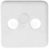 Лицевая панель Hager-Polo REGINA для розеток ТВ/ТВ-САТ белая