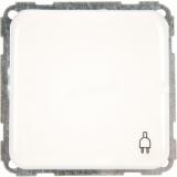 Розетка Hager-Polo REGINA без заземления с крышкой (винт) 16А 230V белая