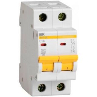 Выключатель автоматический IEK ВА47-29 2P 16А 4,5кА х-ка C